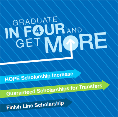 Graduate in Four years and get more scholarships!