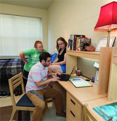 MTSU students study in their dorm