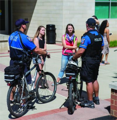 bike cops at MTSU