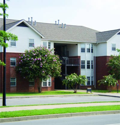 Exterior of MTSU student apartments