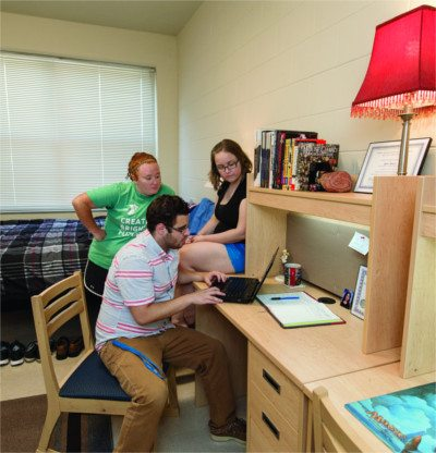 MTSU students study in their dorm