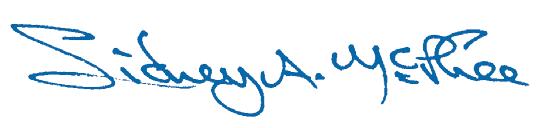 Sidney McPhee Signature